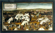 Army Encampment of Emperor Charles V before Lauingen, Germany in 1546.