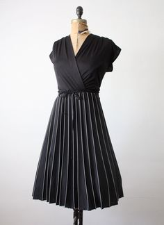 vintage black wrap dress