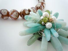 OOAK Wire Wrapped Stone Flower Necklace by Debbie by DebbieRenee, $89.00, handmade jewelry