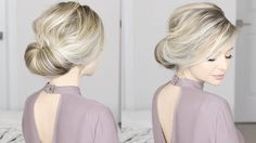 EASIEST Updo ever! Super simple & perfect for long, medium & shoulder le...