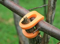 Stick-lets — build stuff using sticks with these little plastic/rubber type joint holders. Great for survival or camping or outdoors and gardening. Make from bicycle innertubes