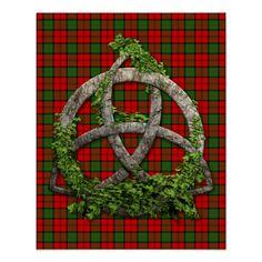 Dunbar Scottish Symbols  | scottish tartans for the dunbar clan with a celtic trinity knot symbol ...