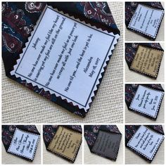 Ink Printed GROOM'S TIE PATCH  Choose Message and Font