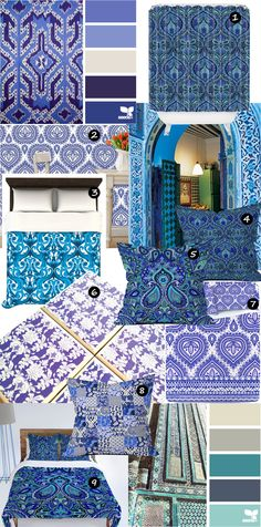 Aimees Blog: Textiles & Other Ramblings - blue Moroccan style home accessories