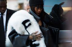 On the Streets of Paris Fashion Week Fall 2014 - PFW Street Style Day 4 - Rihanna