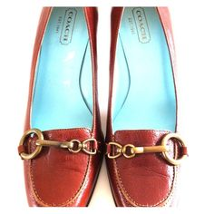 """Host Pick 10/5 ♡ Coach Brown Leather Pumps - New! Classy.  Classic.  Always in style in Coach.  Glazed leather.  3-1/4"""" heel.  Bronze hardware. Never worn. Coach Shoes Heels"""