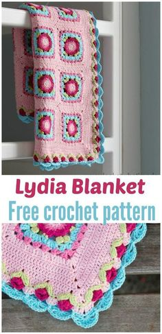 FREE Lydia Blanket crochet pattern - Pinned by intheloopcrafts.blogspot.com