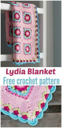 FREE Lydia Blanket crochet pattern - Pinned by intheloopcrafts.blogspot.com