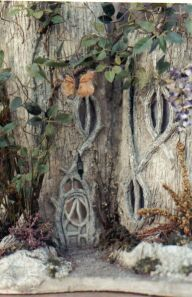 Stump, vines and twigs = fairy dwelling