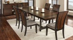 Dark Wood Dining Room Sets: Cherry, Espresso, Mahogany, Brown, etc