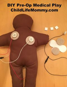DIY Medical Play Prep: Pre-Op medical play for an 8 year old before surgery is discussed. The purpose is to increase familiarization, education, communication, correct misconceptions, develop a sense of mastery, and learn coping skills.
