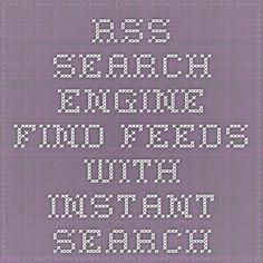 RSS Search Engine - Moteur de recherche de flux RSS