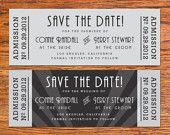 Old Hollywood Wedding Invitation & RSVP Ticket