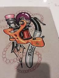 Bilderesultat for tattoo machine drawing