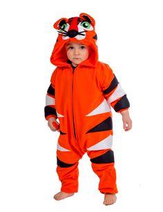 Dit premium tijger kostuum voor kinderen zal ideaal zijn als carnavalskleding om een wilde katachtige te worden! - Nu verkrijgbaar op Vegaoo.nl