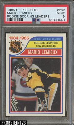 Photo shows the actual card that you will receive. Nhl, Hockey Cards, Baseball Cards, Mario Lemieux, Lets Go Pens, Star Wars, Ice Hockey, Penguins, Sports