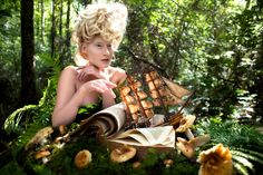 Kirsty Mitchell Photography | An Ocean of Tales Until The Shores Of Home ~ books and sailing ships and toadstools, how magical