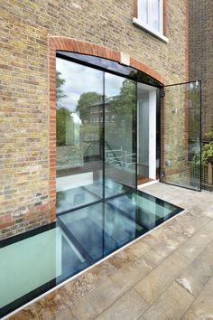 Roof terrace, walk on glass