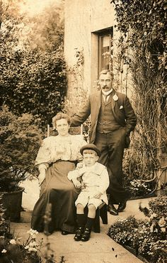 Edwardian family in the garden, 1900s