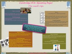 Larissa's Languages: Useful tips for the Cambridge PET and FIRST Speaking papers