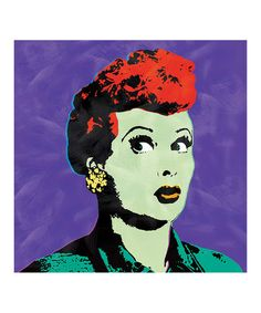 Look at this #zulilyfind! Purple Pop Art Lucy Canvas #zulilyfinds