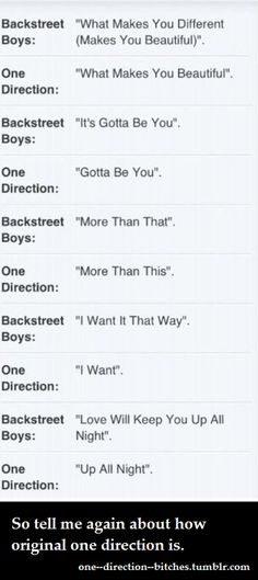 backstreet boys will always be a trillion times better than one direction