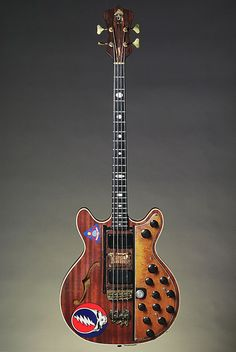 "Phil Lesh's 'Big Brown' Alembic bass - designed to play through the ""Wall of Sound"" I Love Bass, Vintage Guitars, Vintage Bass, Elvis Presley, Famous Guitars, Wall Of Sound, Music Machine, The Jam Band, Gathering Of The Vibes"