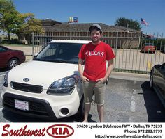 Happy Anniversary to Rick Newton on your 2013 Kia Soul from Rudolph III and everyone at Southwest Kia Dallas!