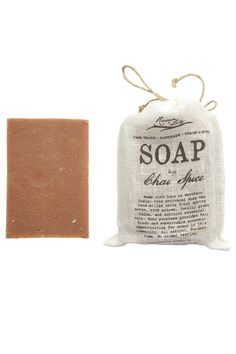 This hand-milled soap smells of cinnamon bark and nutmeg. It is infused with simple yet sensational smelling essential oils and herbs. These ingredients combine with spring water to form the soap bar that is a sweet and savory treat for the home and bath. Enjoy this natural soap for yourself or pass it along as gifts for friends! Handmilled Natural Soap - Chai Spice - Paisley + Sparrow
