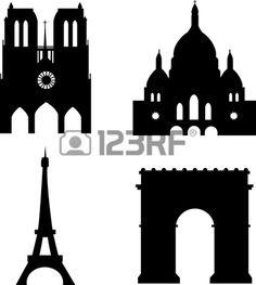 Illustration of paris sights eiffel tower sacre-couer arc de triomph notre-dame de paris vector art, clipart and stock vectors. Triomphe, Cnc Projects, Eiffel, Floating Frame, Vector Art, Tower, Europe, Clip Art, Building