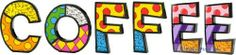 """COFFEE Word Art for Table Top or Wall by Romero Britto by Romero Britto. $121.92. Polystone Sculpture for Table Top or Wall. Custom Word arranged by Picky Picky me. Letters are individually gift boxed in Britto box.. Romero Britto. Wake up to this bright and colorful COFFEE word to go in kitchen or coffee nook. This art can be used as a table decoration or wall hanging. Each letters average size is 5""""H x 6""""W x 1""""D."""