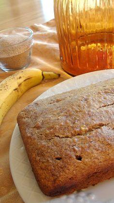 Banana bread recipe using teff flour and whole wheat flour. From 'The Nourishista'