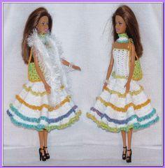 Gehaakte barbie jurk met tasje