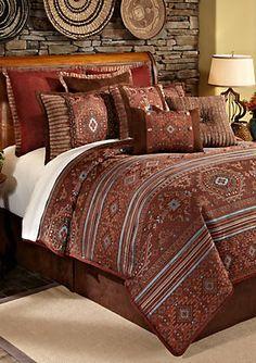 Veratex Pueblo California King Comforter Set X - Brown - Queen Clean Bed, How To Clean Pillows, California King, Tribal Bedroom, Southwest Decor, Southwest Style, Southwest Bedroom, Southwestern Bedding, Master Bedrooms
