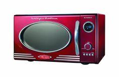 Nostalgia Electrics RMO400RED Retro Series .9 CF Microwave Oven, Red