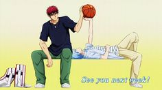 From the first episode. This is when Kagami Taiga (火神 大我) and Kuroko Tetsuya (黒子 テツヤ) meet and Kuroko tells Kagami that he is a shadow and Kagami is the light. Their dream to be begins! Kagami Kuroko, Kagami Taiga, Yuri, Kuroko No Basket Characters, Anime Suggestions, Kiseki No Sedai, Generation Of Miracles, D Gray Man, Anime Nerd