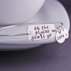 Graduation Gift Oh the Places You'll Go Jewelry by georgiedesigns