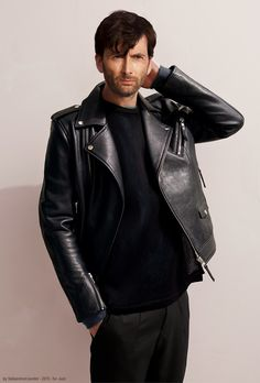 DT in a leather jacket