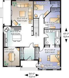 Détail du plan de Maison unifamiliale W3111