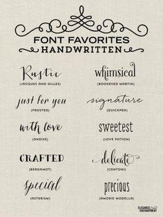 font favorites handwritten