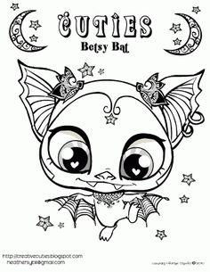creative cuties betsy bat free printable coloring page - Cute Animal Coloring Pages