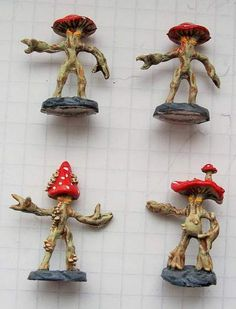 Ral Partha - Fantasy Collector - 02-423 - Mushroom Men