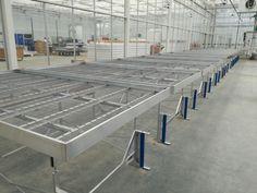 Aluminium benching with mesh bottom