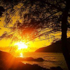 Amanhecer na Praia de Matadeiro, no Sul da Ilha.