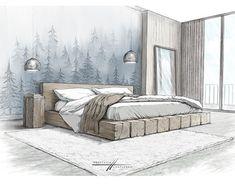 Interior Architecture Drawing, Interior Design Renderings, Drawing Interior, Interior Rendering, Interior Sketch, Architecture Design, Interior Design Presentation, House Design, House Sketch Design
