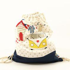 Turnbeutel: Sportbeutel für Schulkinder / gym bag for kids made by baby-lal via DaWanda.com