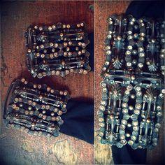 Great idea for costume bra closing - antique belt buckle with rhinestones...