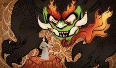 Aku by SIIINS.deviantart.com    Esta serie me gusto mucho y fue parte fundamental de mi infancia, me hubiera gustado que hicieran una continuacion porque quedo inconclusa. =(    Esta imagen es epica, la eterna batalla de Jack contra Aku.
