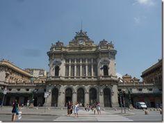 Estación principal de trenes. Génova, Italia