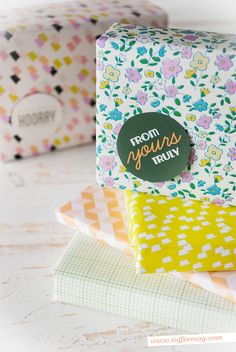 Merry Christmas! Printable gift wrap, tags and more FREE inside the latest issue of Toffee Magazine!
